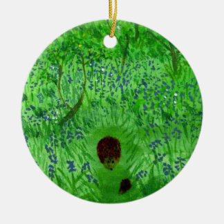 Bluebell Wood Hedgehogs Ceramic Ornament