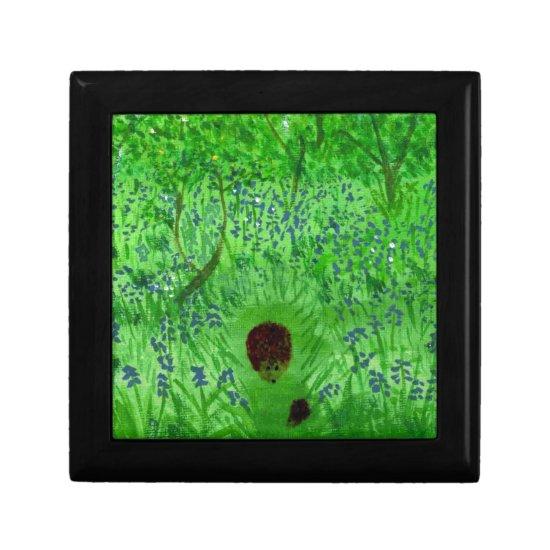 Bluebell Wood Hedgehogs Jewelry Box