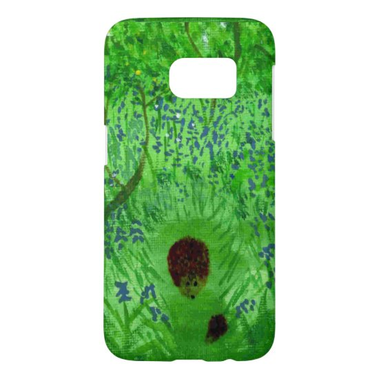 Bluebell Wood Hedgehogs Painting Spring Samsung Galaxy S7 Case
