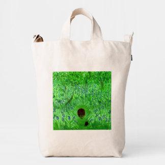 Bluebell Wood Hedghogs Art Duck Canvas Bag