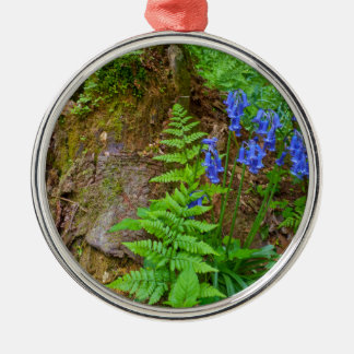 Bluebell wood metal ornament