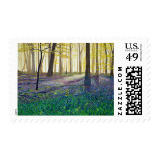 Bluebell Wood Postage Stamp