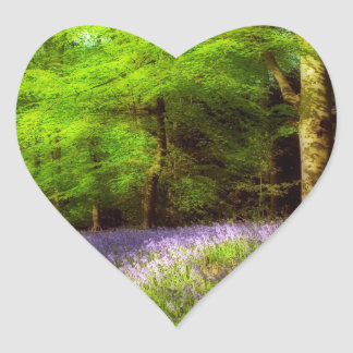 Bluebell wood heart stickers