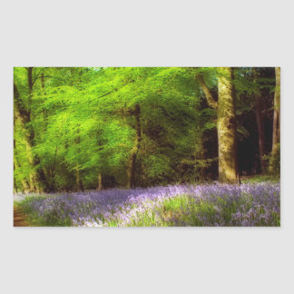 Bluebell wood rectangle sticker