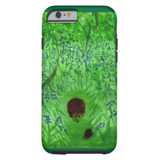 Bluebell Woodland Hedgehogs Tough iPhone 6 Case