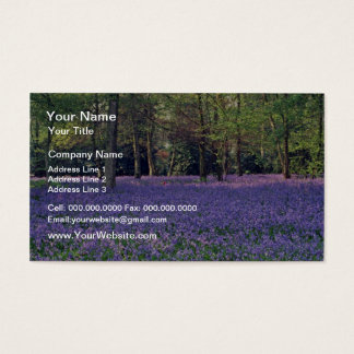 Bluebell Woods, England  flowers Business Card