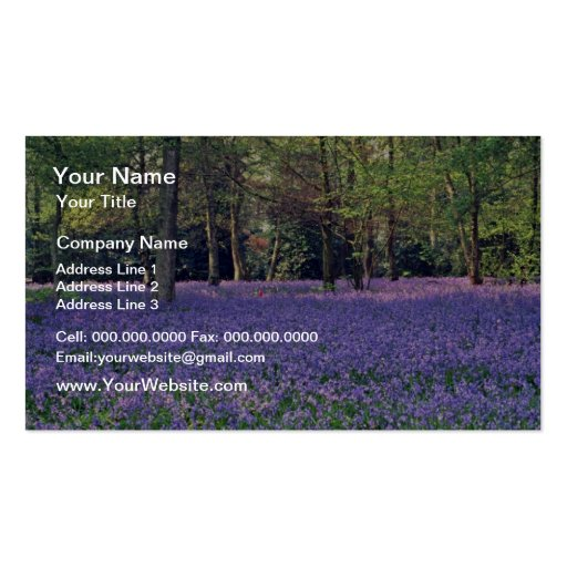 Bluebell Woods, England  flowers Business Cards