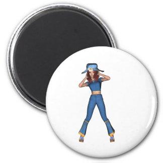 Bluebelle 2 Inch Round Magnet
