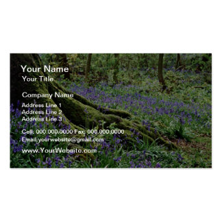 Bluebells, Blicking, Norfolk  flowers Double-Sided Standard Business Cards (Pack Of 100)