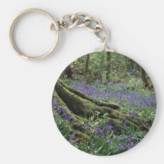 Bluebells, Blicking, Norfolk from the Forest Key Chains