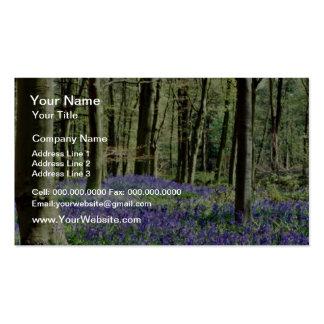 Bluebells, Blicking Park, Blicking, Norfolk  flowe Double-Sided Standard Business Cards (Pack Of 100)