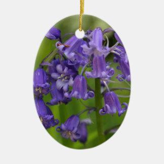 bluebells ceramic ornament