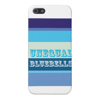 """Bluebells desiguales "" iPhone 5 Fundas"