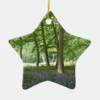 BLUEBELLS Double-Sided STAR CERAMIC CHRISTMAS ORNAMENT