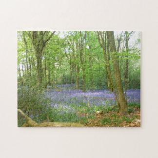 Bluebells en maderas puzzle con fotos