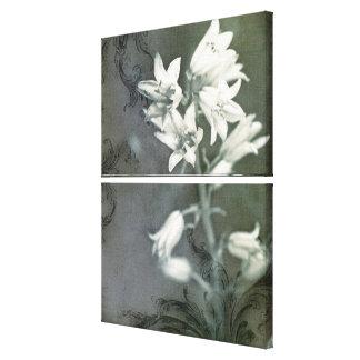 Bluebells en negro y blanco impresión en lienzo