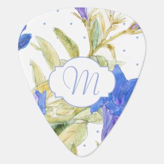 Bluebells Floral Monogram Guitar Picks