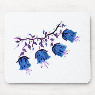 BLUEBELLS FLORAL MOUSE PAD