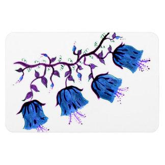 BLUEBELLS FLORAL RECTANGULAR PHOTO MAGNET