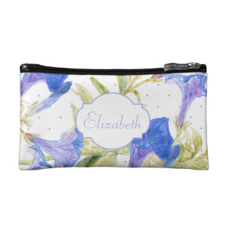Bluebells Floral Small Cosmetic Bag
