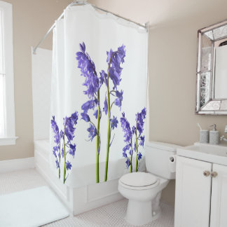 Bluebells, From the very Woods I Created! Shower Curtain