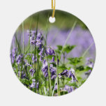 Bluebells In England Double-Sided Ceramic Round Christmas Ornament