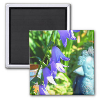 Bluebells in the Border 2 Inch Square Magnet
