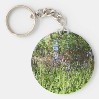 Bluebells in the Wood Key Chain