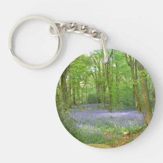 Bluebells in Woods Keychain