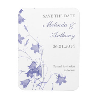 Bluebells - Lavender Save the Date Magnet