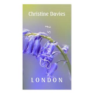 Bluebells macro photograhy, florist business card