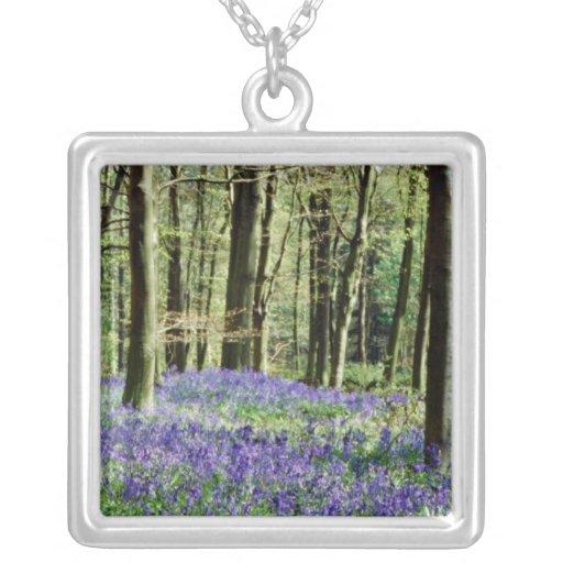 Bluebells, parque de Blicking, Blicking, flowe de  Collares Personalizados