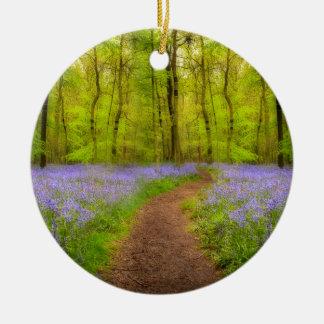 Bluebells path ceramic ornament