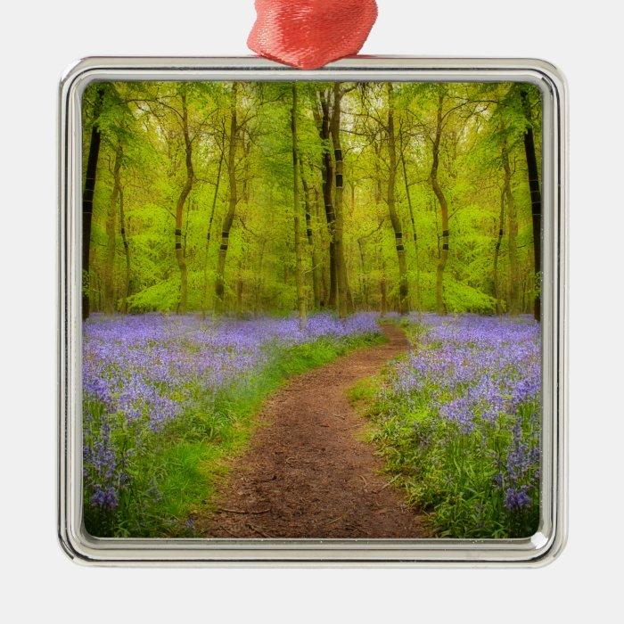 Bluebells path metal ornament