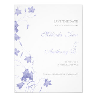 Bluebells - reserva de la lavanda la fecha invitacion personal
