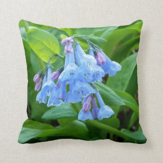 Bluebells Ring (Virginia Bluebells) Pillow