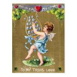 Bluebells Victorian Valentine's Day Postcard