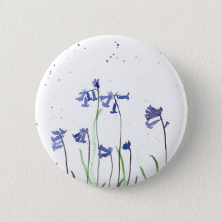 Bluebells watercolour painting button