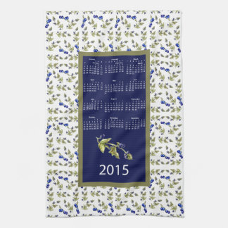 blueberries 2015 calendar kitchen tea towel