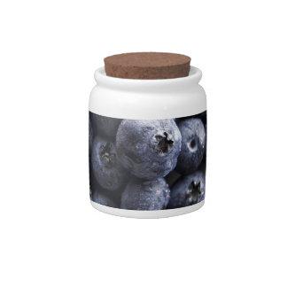 Blueberries 2 candy jar