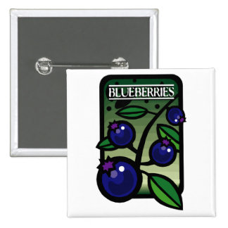 Blueberries 2 Inch Square Button