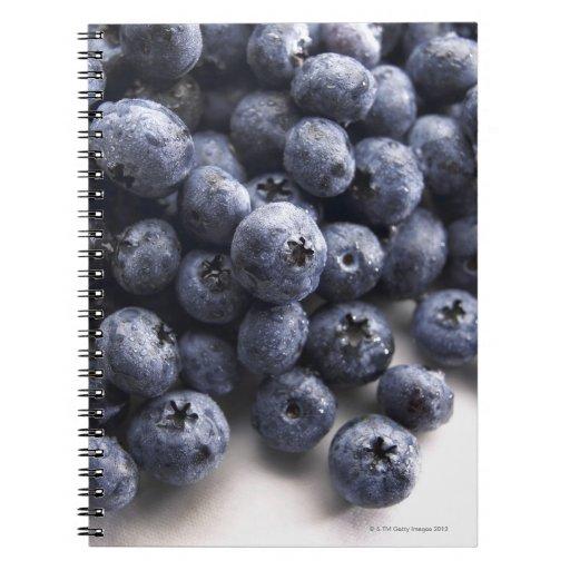 Blueberries 2 spiral notebook