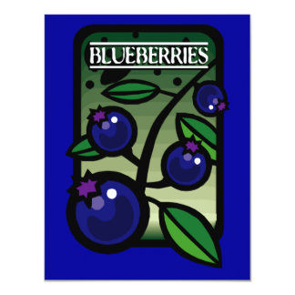 Blueberries 4.25x5.5 Paper Invitation Card