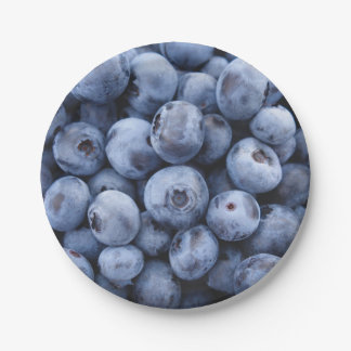 Blueberries 7 Inch Paper Plate