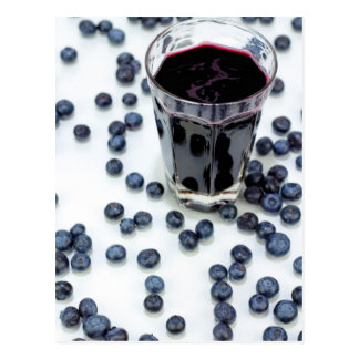 Blueberries and Blueberry Juice Postcard