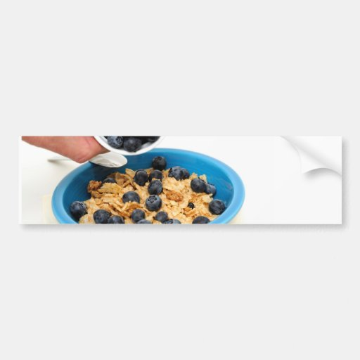 Blueberries And Cereal Closeup Bumper Sticker