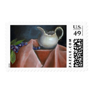 Blueberries and  Cream Postage Stamp S