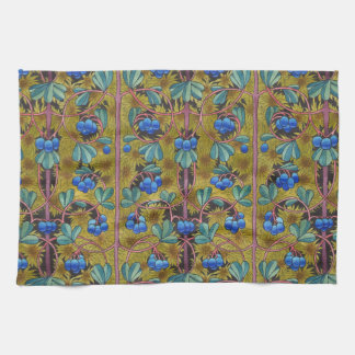 Blueberries and moss kitchen towel