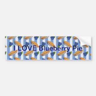 Blueberries and pie pattern bumper sticker
