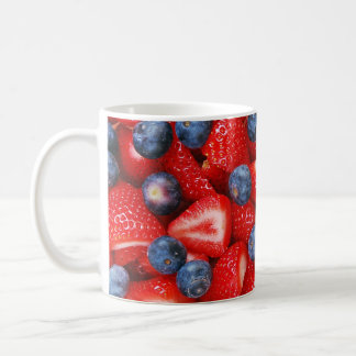 Blueberries and strawberries coffee mug